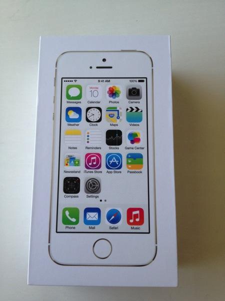 『iPhone 5s』シルバーパッケージ