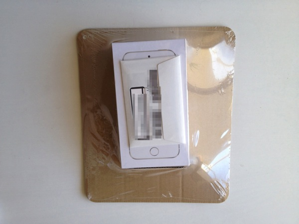 『iPhone 5s』シルバー梱包状態